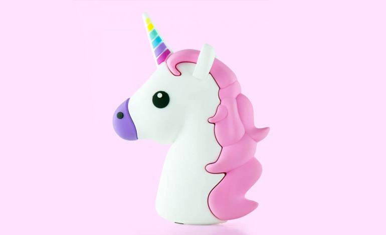 schattige emoji unicorn powerbank
